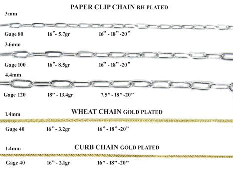 Paper clip chain